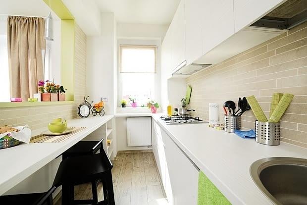 małe mieszkanie, studio, kawalerka, pomysłowo urządzone mieszkanie