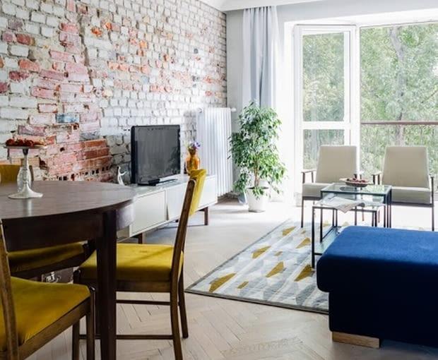 Wystrój wnętrz, aranżacja wnętrz, mieszkanie w Warszawie, salon