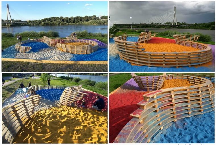 Projekty partycypacyjne z użyciem kolorowego piasku
