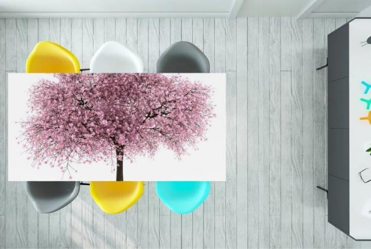 Naklejka na stół wiśniowe drzewo