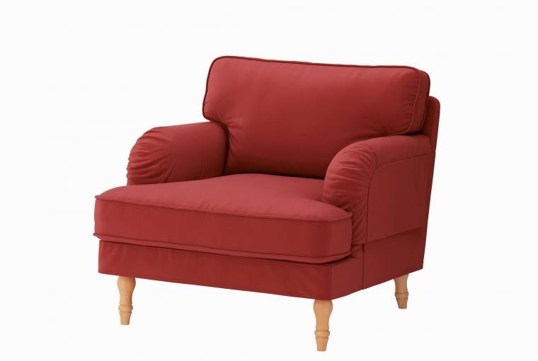 Fotel Strocksund, obicie z tkaniny, IKEA, 1099 zł