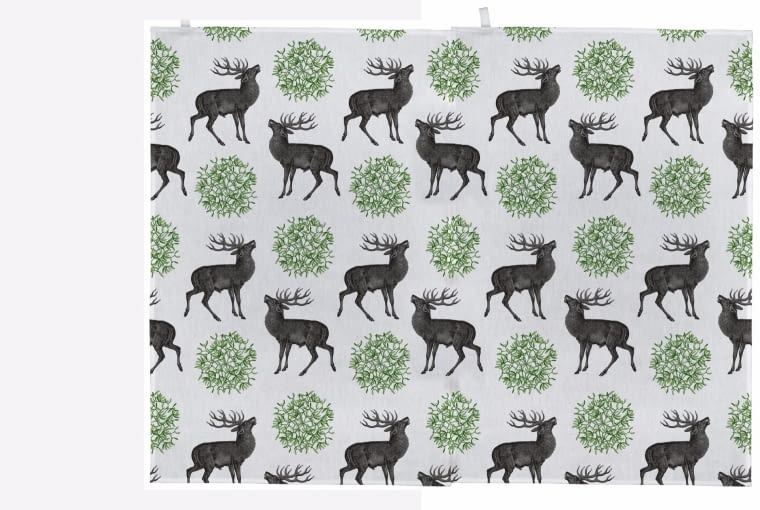 Stag & Mistletoe, ściereczka, Thornback and Peel, thornbackandpeel.co.uk