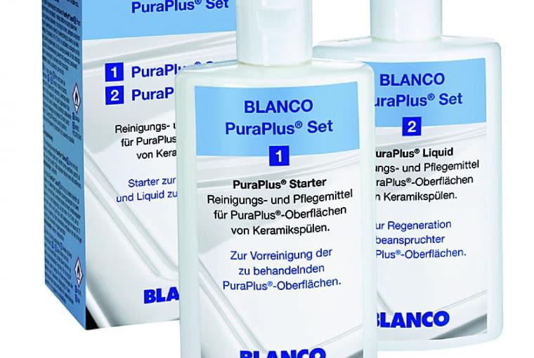 PuraPlus Liquid Set 2/BLANCO To dwa preparaty: PuraPlusStarter pomaga we wstępnym czyszczeniu oraz PuraPlusLiquid, który regeneruje powierzchnie. Cena: 219 zł, www.blanco.pl