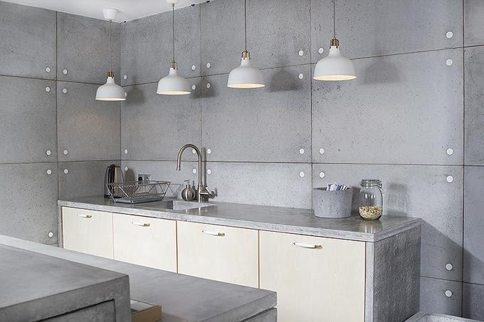 beton w kuchni, beton architektoniczny, Morgan & Möller