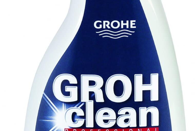 GROHclean/Grohe. Ekologiczny środek czyszczący do armatury i łazienek. Usuwa kamień i zacieki wodne, brud, tłuszcz. Bazujący na kwasie cytrynowym środek powierzchniowo czynny jest w 90% biodegradowalny metodą OECD. Cena: ok. 60 zł, www.grohe.pl