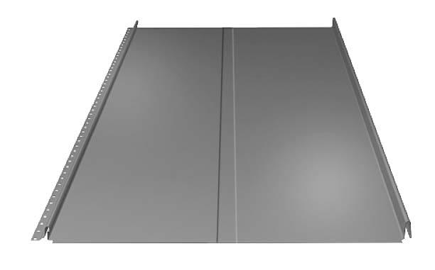SRP25 P/LINDAB | Rodzaj: panel dachowy | materiał: blacha stalowa z powłoką organiczną (PE, MPE, HBP, MHBP) | wymiary (dł. x szer.): 80-700 x 503/500 cm; gr. blachy: 0,5 mm; wys. przetłoczenia: 2,5 cm; zalecany kąt nachylenia połaci 15° | kolory: m.in. biały, czarny, jasnoszary. Cena: od 44,35 zł/m2, www.lindab.pl