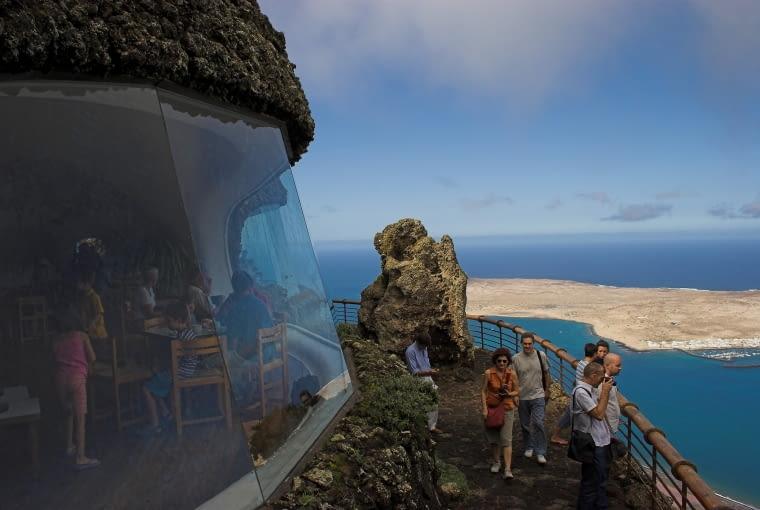 Mirador del Rio - punkt widokowy na Lanzarote. Proj. César Manrique