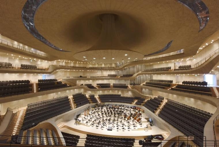 Wnętrze sali koncertowej