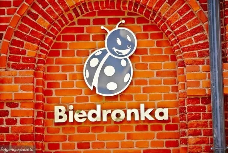 Sklep sieci Biedronka w zabytkowym budynku przy ulicy Ogrodowej w Łodzi