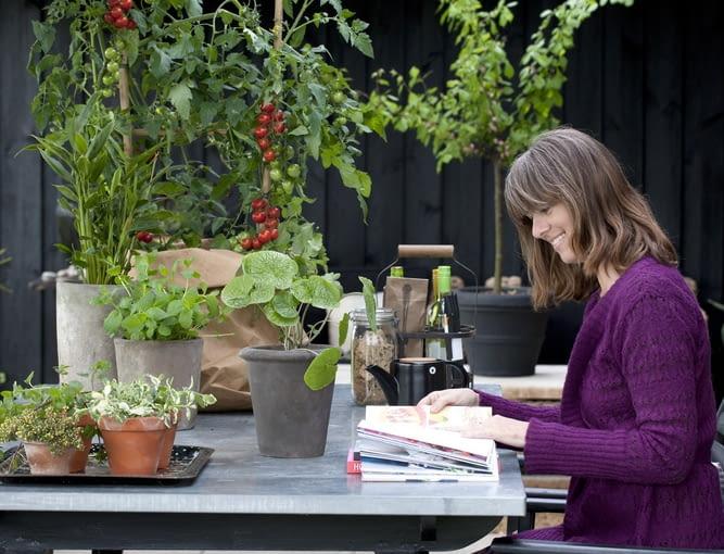 Balkon w warzywach, kwiatach i ziołach