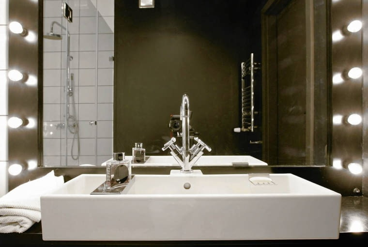łazienka, oświetlenie łazienki, lampy łazienkowe, aranżacja łazienki