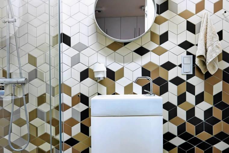 PŁYTKI do łazienki, łazienka, styl skandynawski