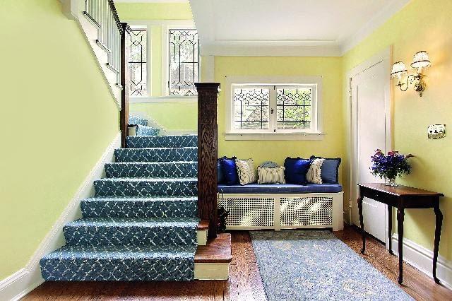 Schody w holu, schody płytowe