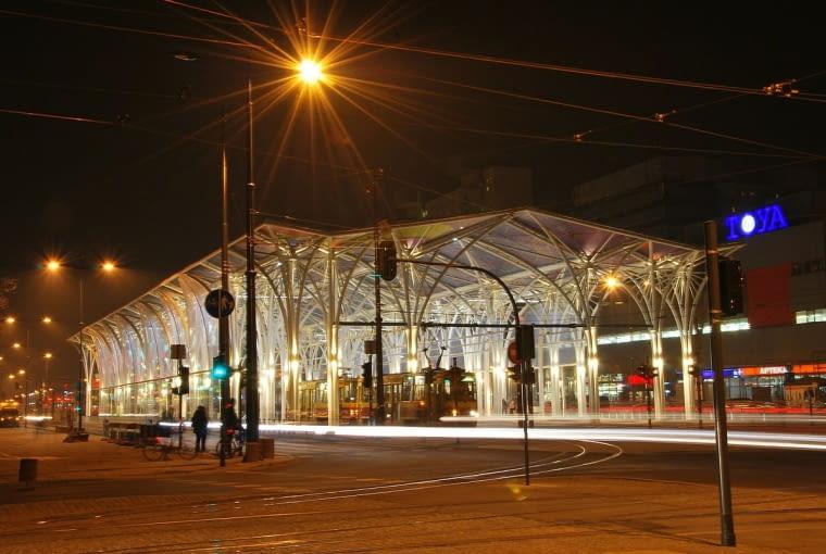 Nowa wiata tramwajowa na trasie W-Z w Łodzi