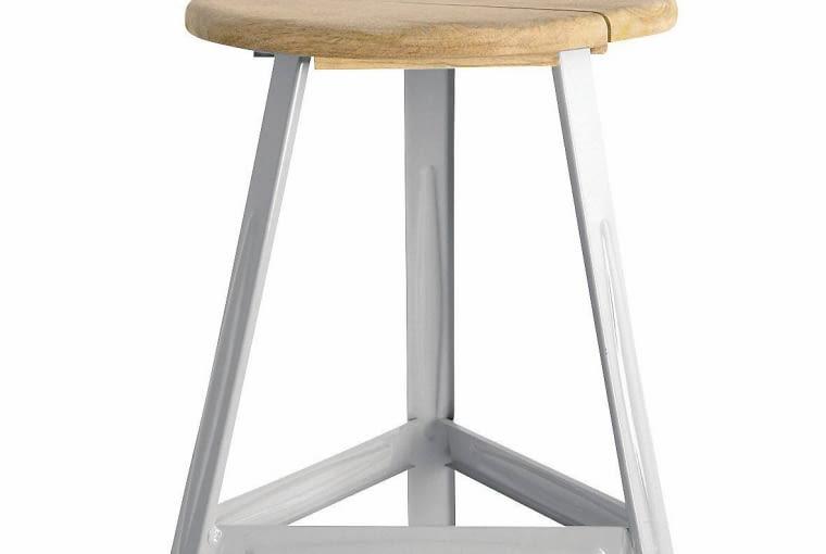 stołek, metal i drewno mango, dwanda.pl