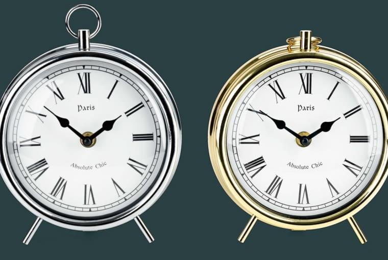 W stylu tego wnętrza: Zegar, metal, wys. 19 cm, 35,99 zł, Jysk