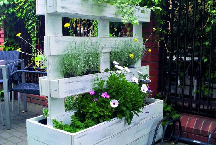 Ukwiecona osłona świetnie sprawdzi się w małym ogrodzie, gdzie brak miejsca dla kwiatów.