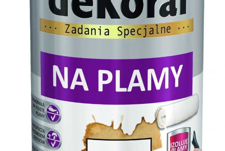 Renostyl w/DEKORAL| Rodzaj: farba gruntująca na plamy | wydajność: do 12 m2/l przy jedynej warstwie | kolor: biały | stopień połysku: matowa | opakowania: 0,5 l, 1 l.Cena: 19,61 zł/0,5 l; 36,90 zł/1 l, www.dekoral.pl