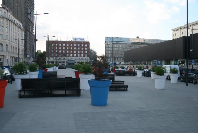 Projekt nowej zieleni na placu Powstańców Warszawy w Warszawie - stan istniejący