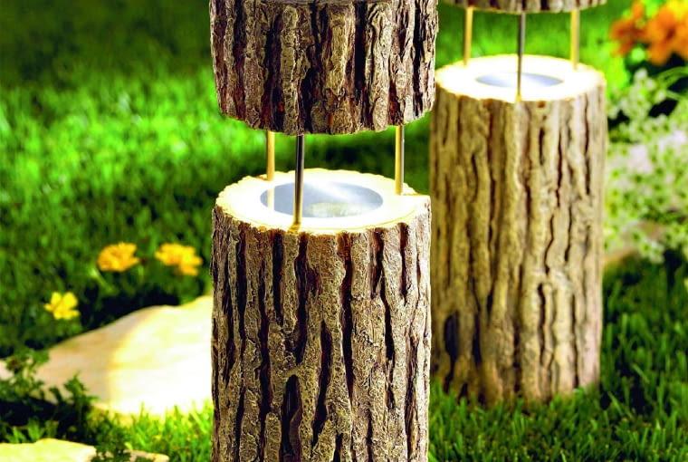 Oprawy lampek - drewno, a może jednak beton?