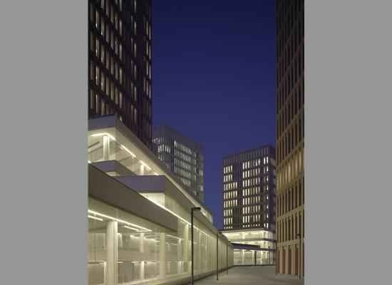 budynki, wieża, bloki, sąd, barcelona, david chipperfield, hiszpania, beton, miasto
