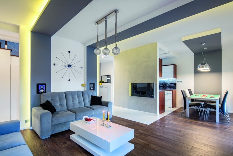 dom nowoczesny, dom pasywny, salon