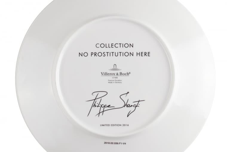 "Talerze z serii ""No Prostitution here"