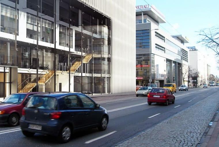 Biurowiec w Gdyni, przy ul. 10 Lutego, projekt semestralny w Katedrze Architektury Mieszkaniowej Wydziału Architektury Politechniki Gdańskiej, czerwiec 2008