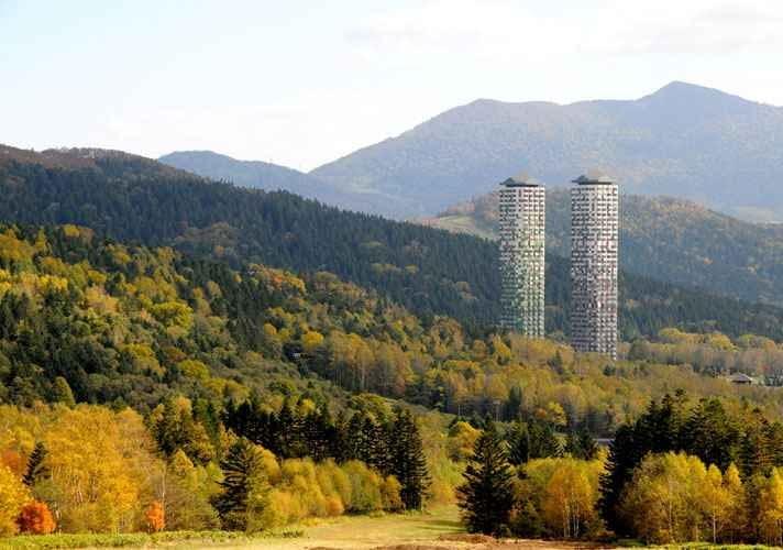 japonia, modernizacja, kolor, wieżowiec, hotel