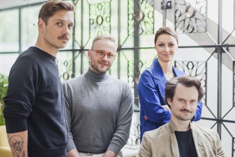 Od lewej Norbert Redkie, Hubert Karsz, Emilia Obrzut, Bartek Kraciuk