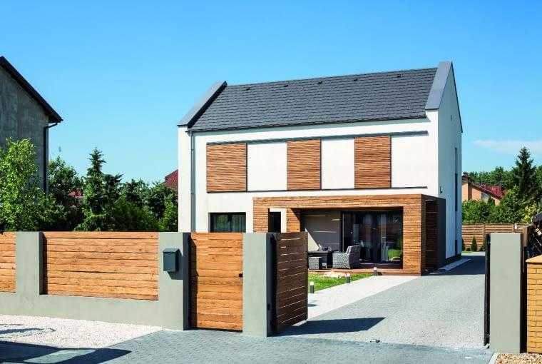 dom nowoczesny, dom pasywny, ogrodzenie
