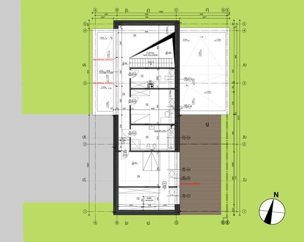 Dom w łupku - rzut piętra