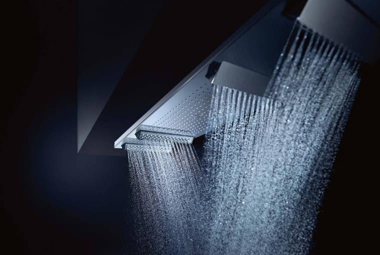 Głowica ShowerHeaven 1200, trzy rodzaje strumienia: Mono, Rain i Powder Rain, Axor, www.hansgrohe.pl