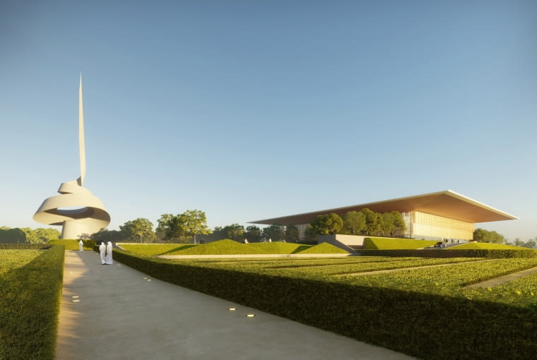 Dom Mądrości - biblioteka w Sharjah. Proj. Foster + Partners.