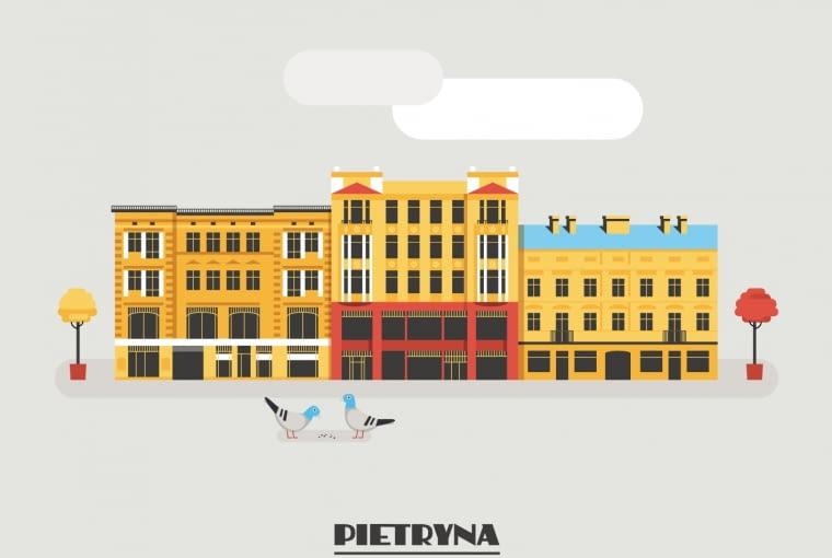 Pietryna - potoczna nazwa ulicy Piotrkowskiej w Łodzi