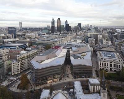 Jaskiniowiec, One New Change, proj. Jean Nouvel, Londyn, Wielka Brytania, 2010