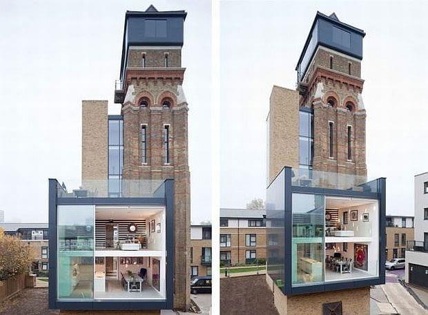 wieża ciśnień, dom w wieży ciśnień