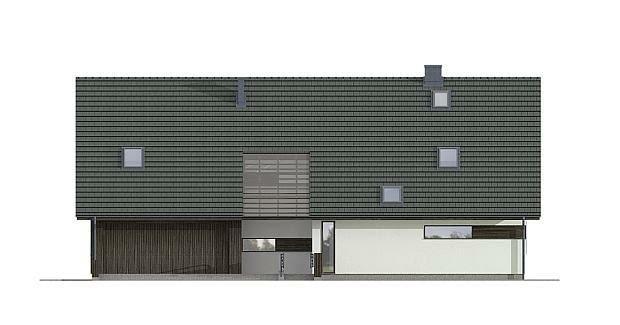 projekty domów, elewacja frontowa