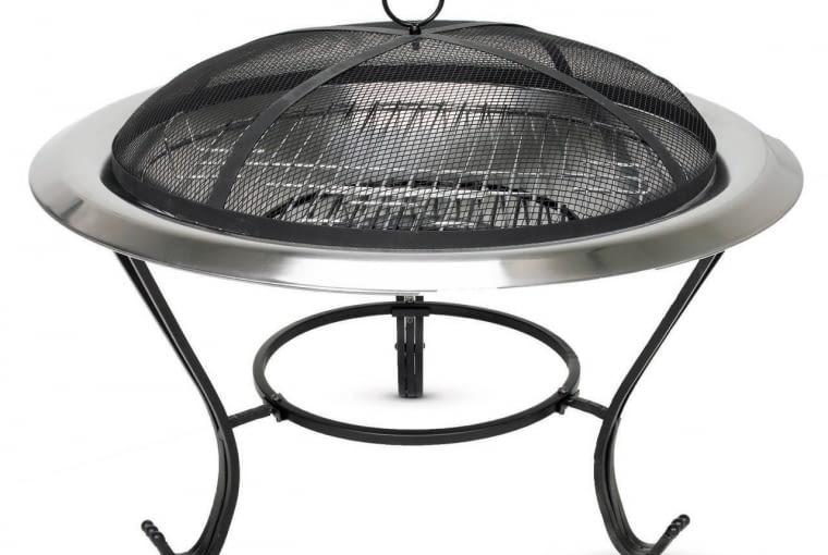 3. efektowny grill, idealny na taras, może też służyć za przenośne ognisko, ok. 300 zł, Jula