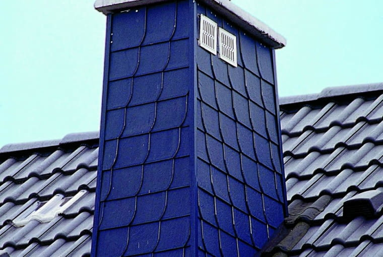komin, dach, włóknocement