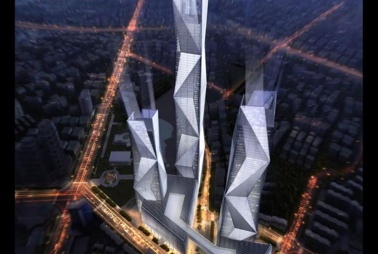 Wieżowce w Nanjing, Chiny