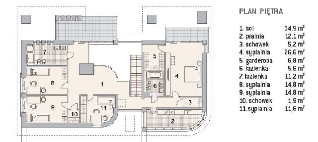 Projekt na zamówienie - plan piętra