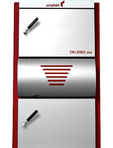 Kocioł z ręcznym załadunkiem paliwa - Orlingo 200 Eko-Vimar Orlański; moc 7-18 kW; wymiennik ciepła ze stali. Wymiary (wys./szer./gł.): 1235/610/980 mm. Cena brutto: 7933 zł.