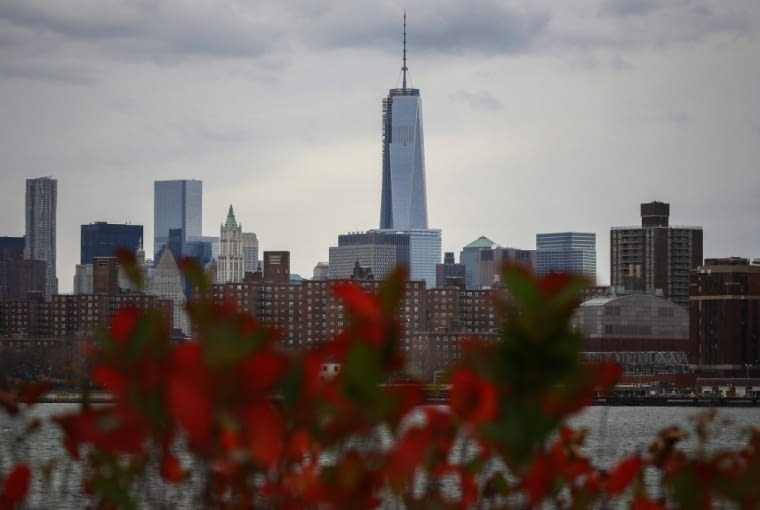 New York's One World Trade Center is seen towering over the lower Manhattan skyline November 12, 2013. The Council on Tall Buildings and Urban Habitat has announced that One World Trade Center will be the tallest building in the United States when it opens next year. REUTERS/Shannon Stapleton (UNITED STATES - Tags: CITYSCAPE SOCIETY)