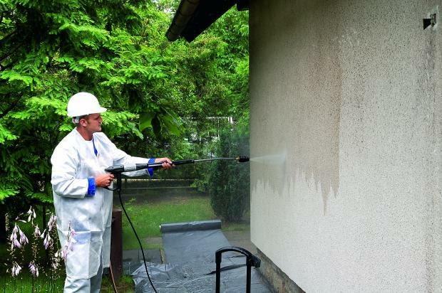 czyszczenie elewacji, mycie elewacji, tynk mineralny