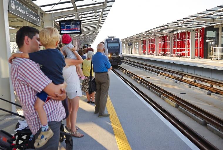 Przystanek PKM przy gdańskim lotnisku