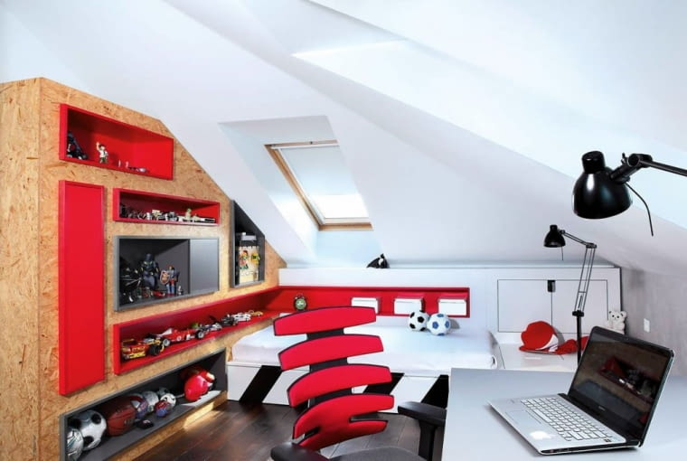 mały pokój młodzieżowy