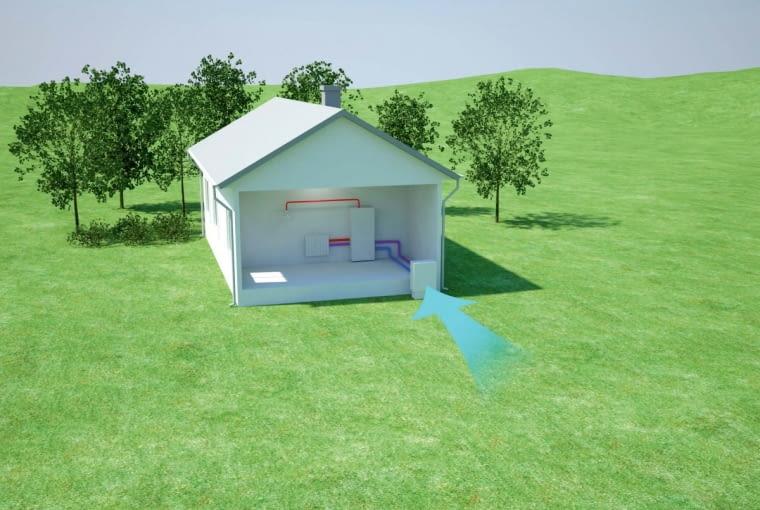 Heat Pump House 3D - air source