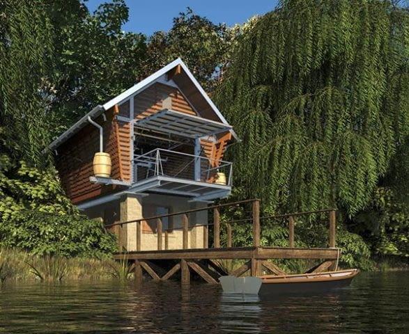 Ekologiczny dom-spichlerz od Broadhurst Architects