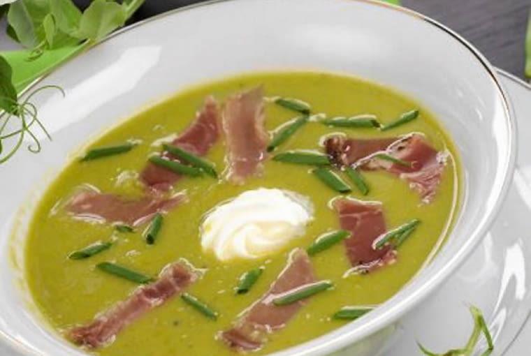 Zupa krem z zielonego groszku - na pyszny początek lata